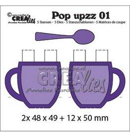 Crealies Crealies Pop upzz 2x pop up mok + lepel