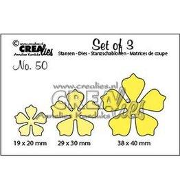 Crealies Crea-nest-dies Crealies Set of 3 no. 50 bloemen 21