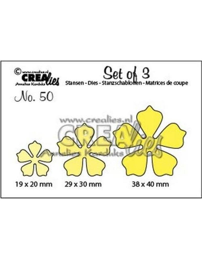 Crealies Crea-nest-dies Crealies Set of 3 no. 50 bloemen 21