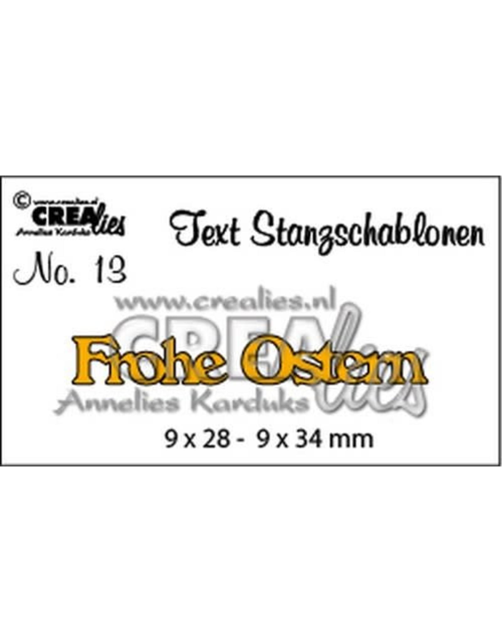 Crealies Crealies Tekststans (DE) Frohe Ostern