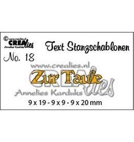 Crealies Crealies Tekststans (DE) nr 18 Zur Taufe