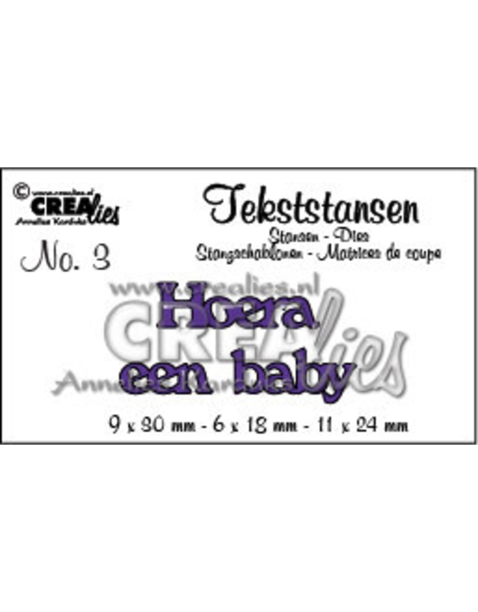Crealies Crealies tekststans - Hoera een baby (NL)