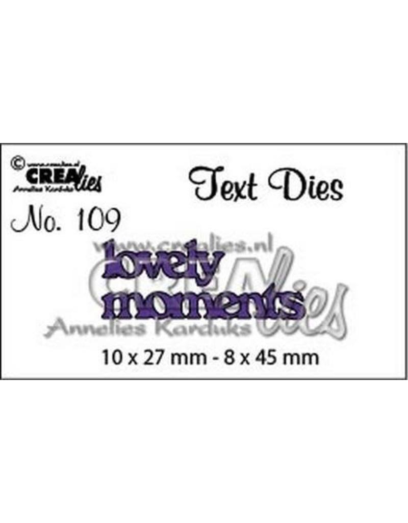 Crealies Crealiestekststans (Eng) nr. 109 lovely moments