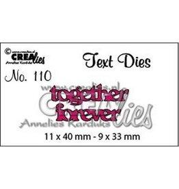 Crealies Crealiestekststans (Eng) nr. 110 together forever
