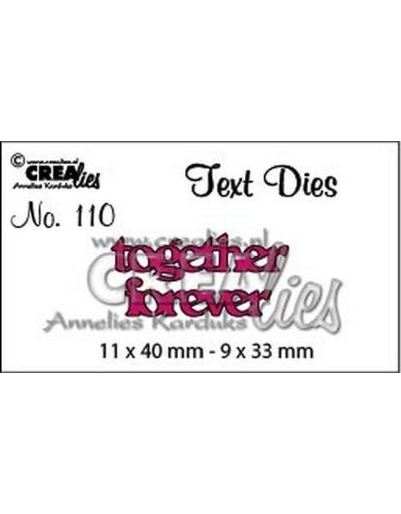 Crealies Crea-nest-dies Crealiestekststans (Eng) nr. 110 together forever