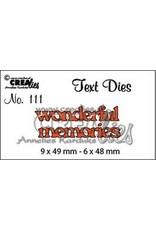 Crealies Crea-nest-dies Crealiestekststans (Eng) nr. 111 wonderful memories