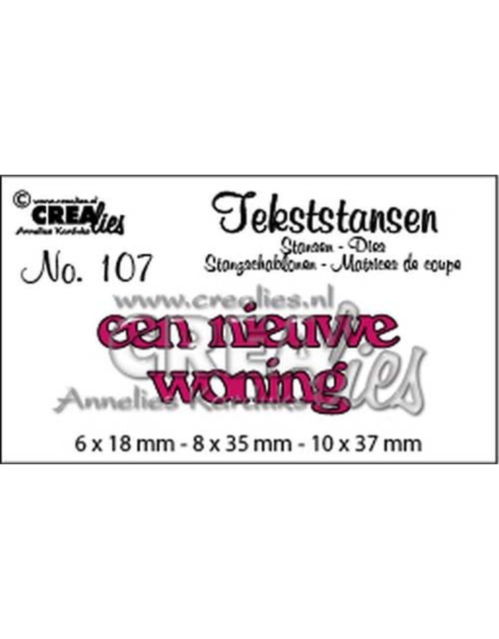 Crealies Crealies Tekststans no 107 Een nieuwe woning (NL)