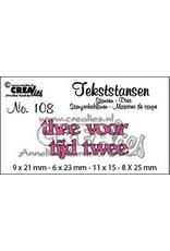 Crealies Crealies Tekststans no 108 Thee tijd voor twee (NL)