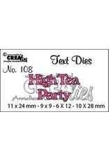Crealies Crealiestekststans (Eng) nr. 108 High Tea Party
