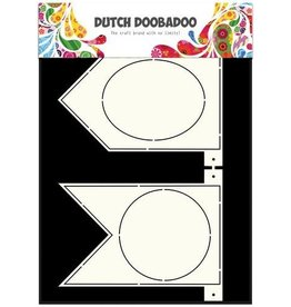 Dutch Doobadoo Card Art Dutch Doobadoo Dutch Card Art Stencil Banner Flaggetjes  A4