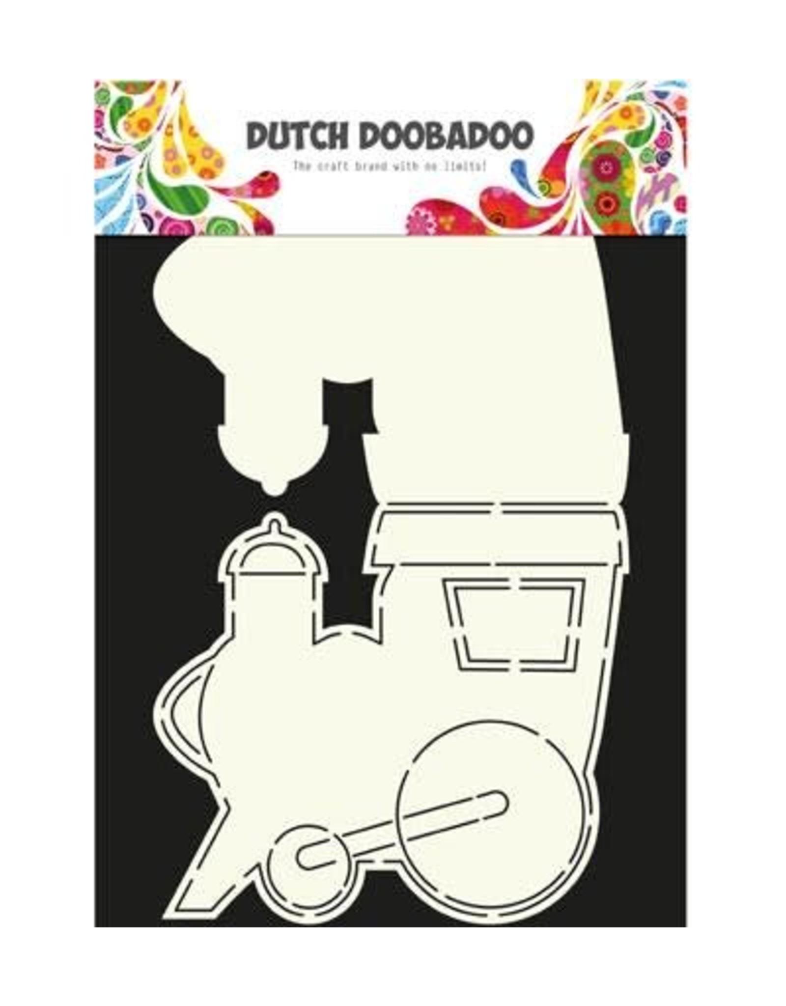 Dutch Doobadoo Card Art Dutch Doobadoo Dutch Card Art Stencil locomotief  A4