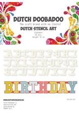 Dutch Doobadoo Mask Art Dutch Doobadoo Dutch Mask Art stencil Alfabet A-Z (26 stencils) 12cm