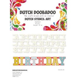 Dutch Doobadoo Mask Art Dutch Doobadoo Dutch Mask Art stencil Alfabet A-Z (26 stencils) 12cm