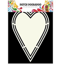 Dutch Doobadoo Shape Art Dutch Doobadoo Dutch Shape Art label hart A5