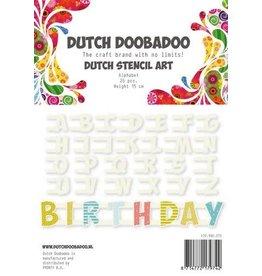 Dutch Doobadoo Stencil Dutch Doobadoo Dutch Stencil Art Alfabet A-Z NR2 (26 stencils) 12cm