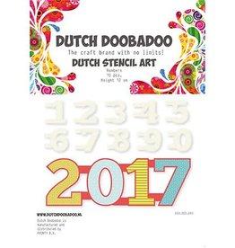 Dutch Doobadoo Stencil Dutch Doobadoo Dutch Stencil Art Nummers 0-9
