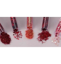 Schutmaterialen Glitterset assorti Valentine 1.8 GR 5 ST