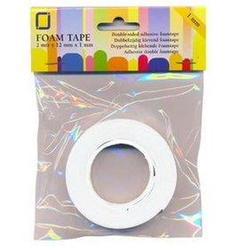 JeJe Transparante JeJe Foam tape 1 mm dubbelzijdig 2 MT  1 RL