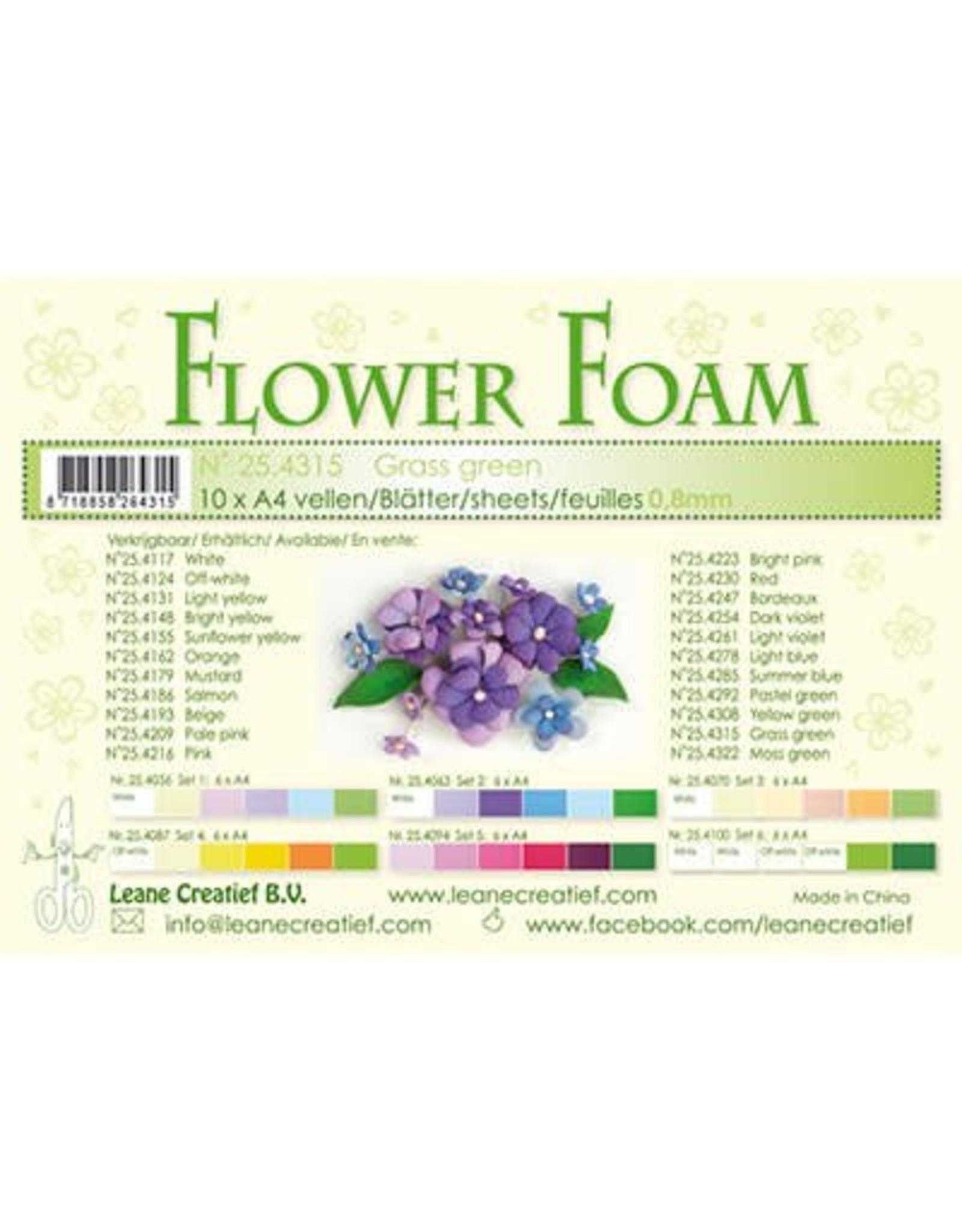 LeCrea -Foam LeCrea - 10 Flower Foam sheets A4 gras groen