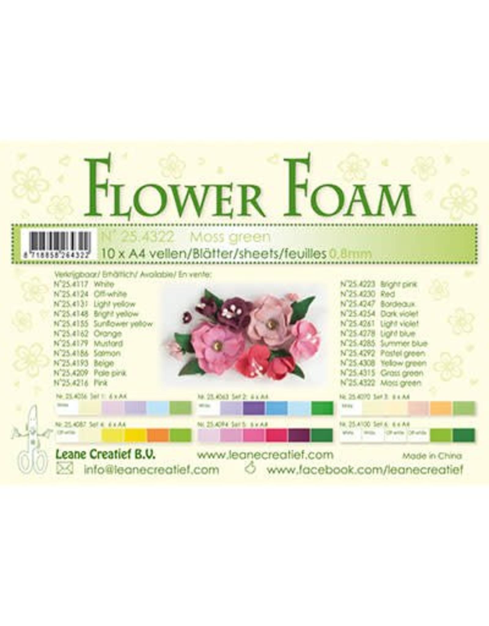 LeCrea -Foam LeCrea - 10 Flower Foam sheets A4 mosgroen