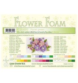 LeCrea -Foam LeCrea - 10 Flower Foam sheets A4 pastel groen