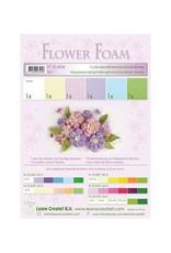 LeCrea -Foam LeCrea - Flower Foam assort. 1. 6 vel A4 pastel