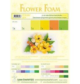 LeCrea -Foam LeCrea - Flower Foam assort. 4. 6 vel A4 geel