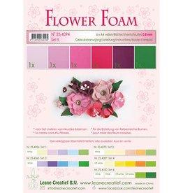 LeCrea -Foam LeCrea - Flower Foam assort. 5. 6 vel A4 rood. roze