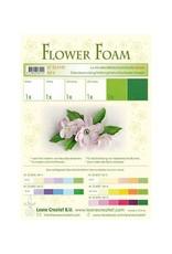 LeCrea -Foam LeCrea - Flower Foam assort. 6. 6 vel A4 wit groen