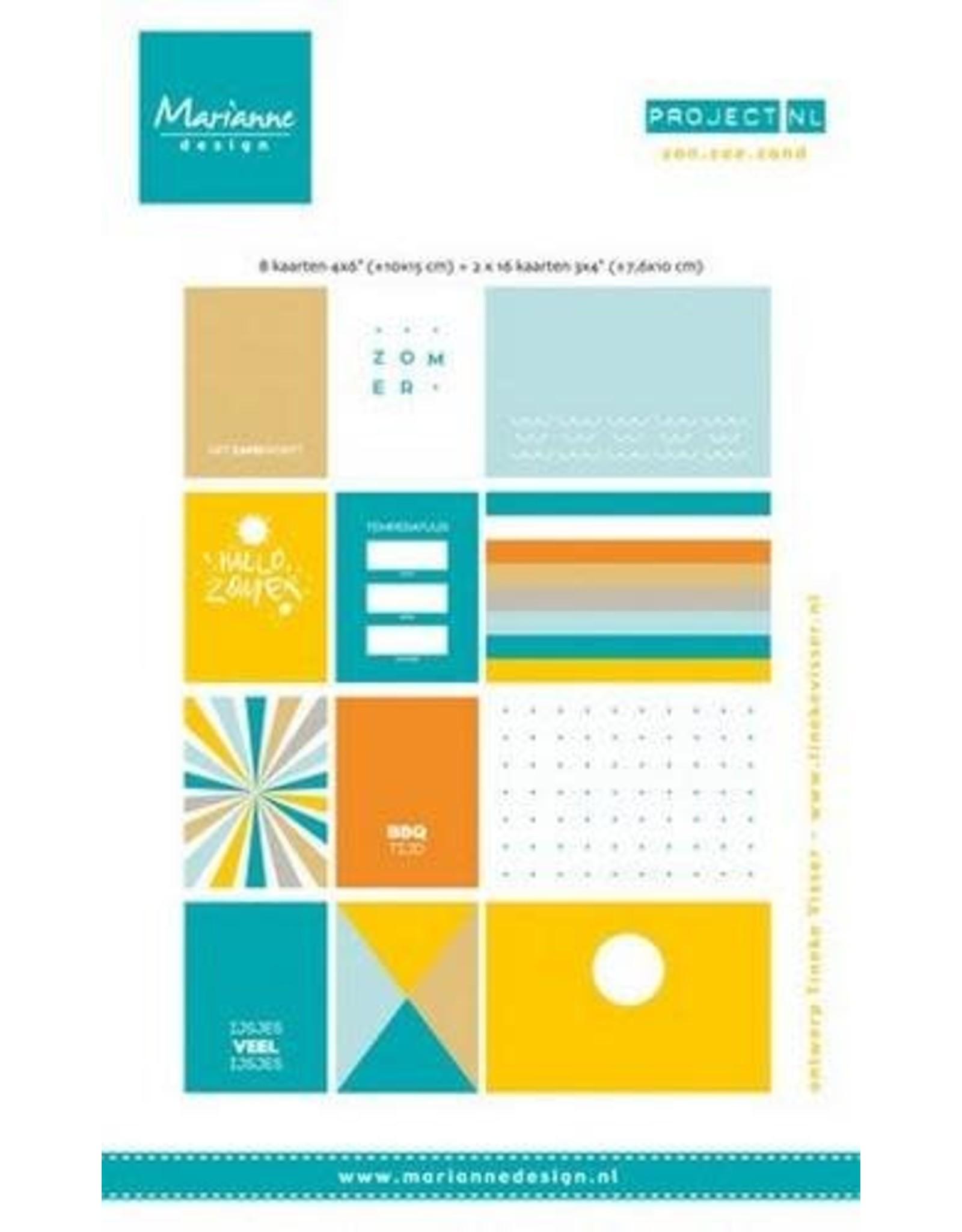 Marianne Design Marianne D Card set Project NL - zon. zee strand (NL)