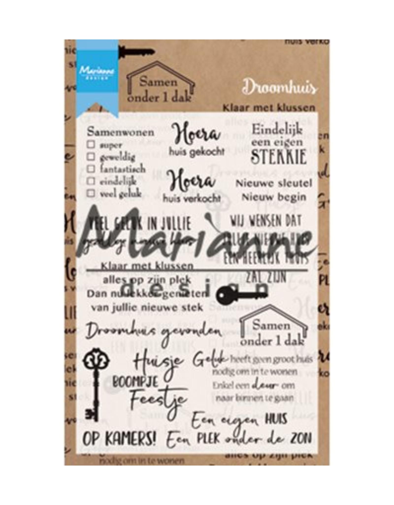 Marianne Design Marianne D Clear Stamp Droomhuis (NL) CS1004