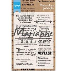 Marianne Design Marianne D Clear Stamp Verjaardagsgedichtjes (NL) CS1006