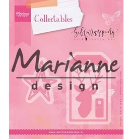Marianne Design Marianne D Collectable Giftwrapping - Karin's deer. stars & tag