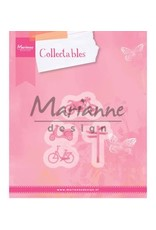 Marianne Design Marianne D Collectable Village decoration set bycicle