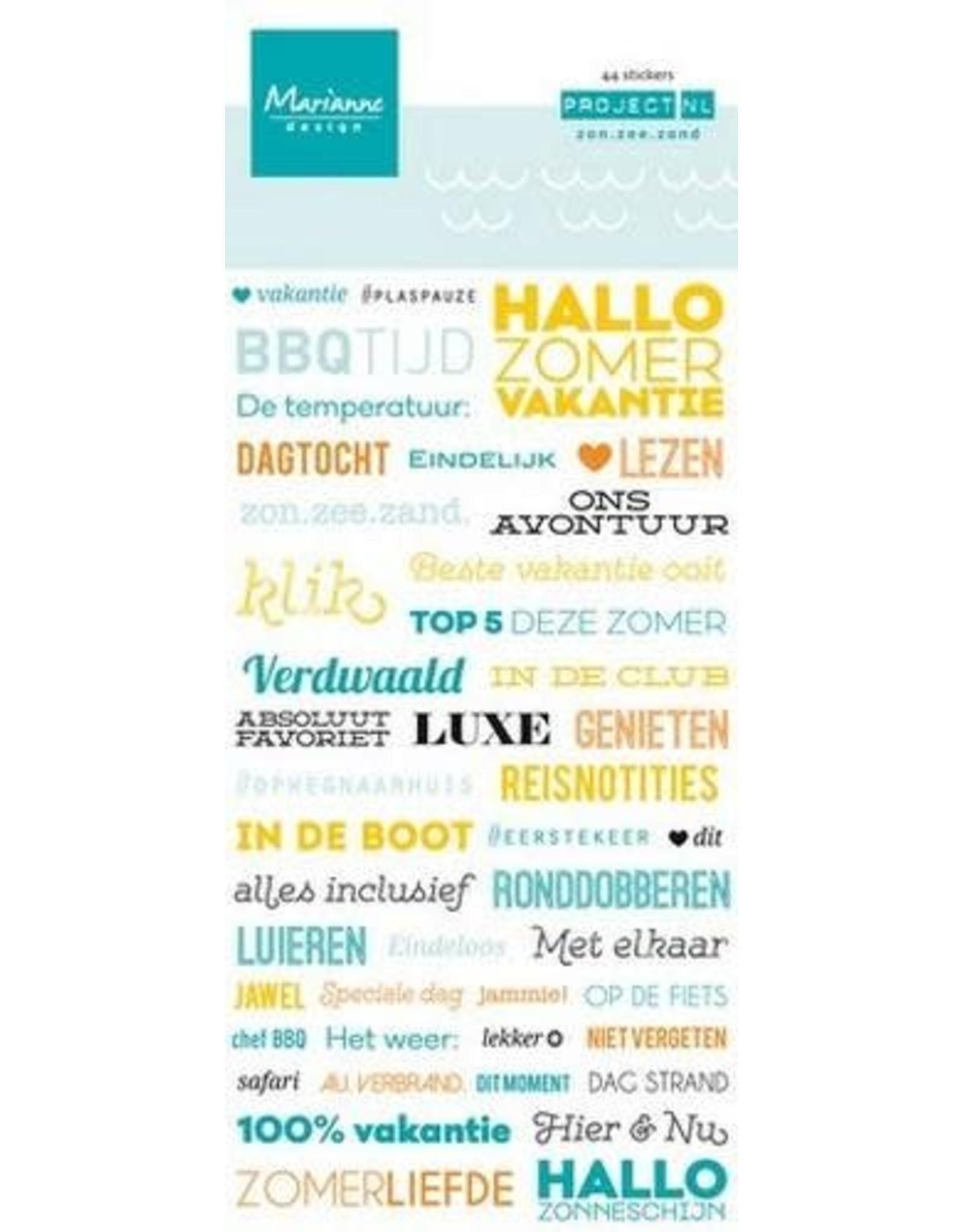 Marianne Design Marianne D Dec. Project NL Tekststickers zon. zee (NL)