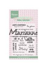 Marianne Design Marianne D Stempel Eline's baby tekstjes (NL)