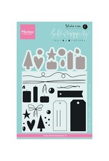 Marianne Design Marianne D Stempel Giftwrapping Tags & Draad KJ1716