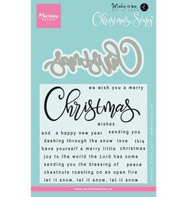 Marianne Design Marianne D Stempel Kerst liedje