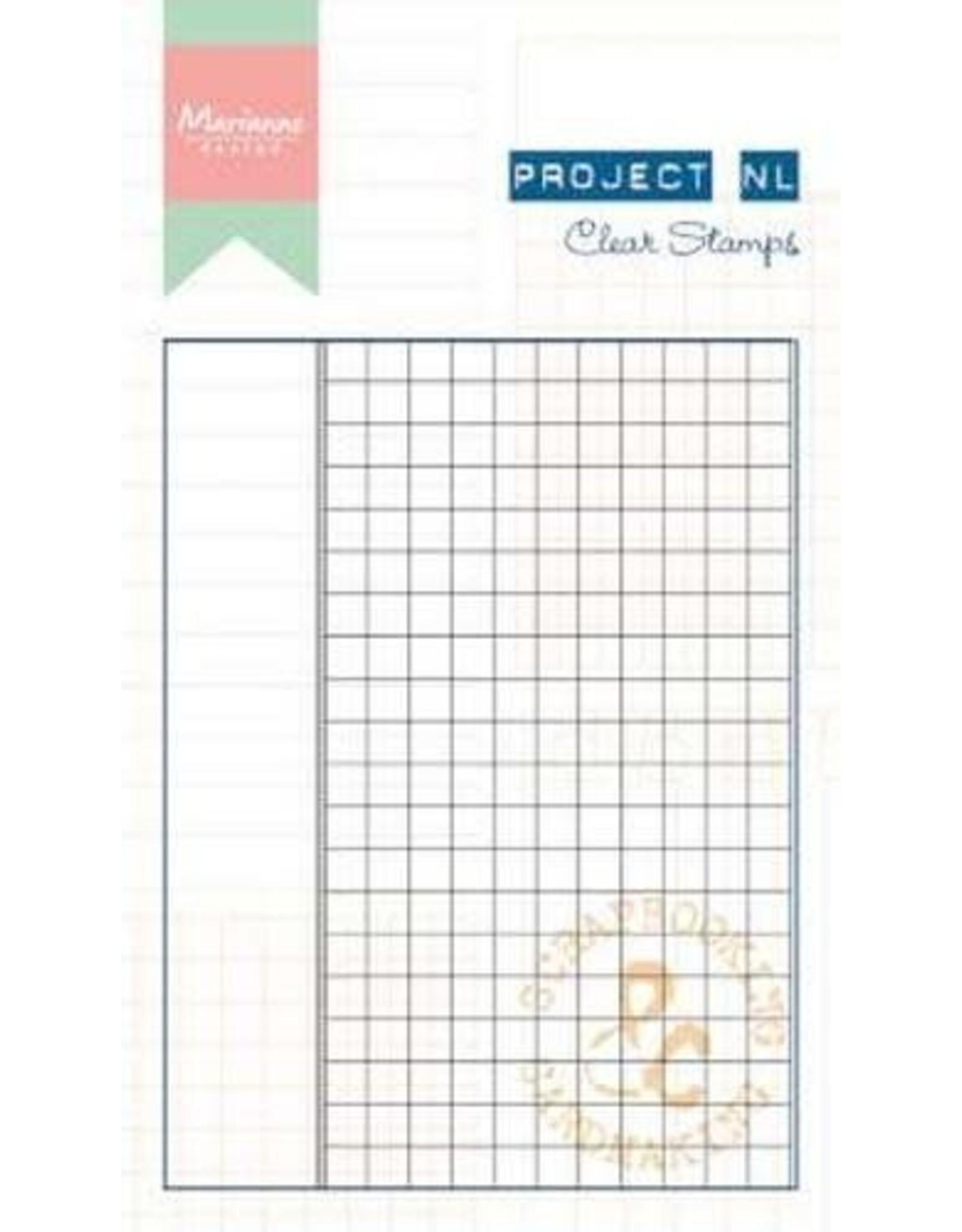 Marianne Design Marianne D Stempel Project NL - Ruitjes papier