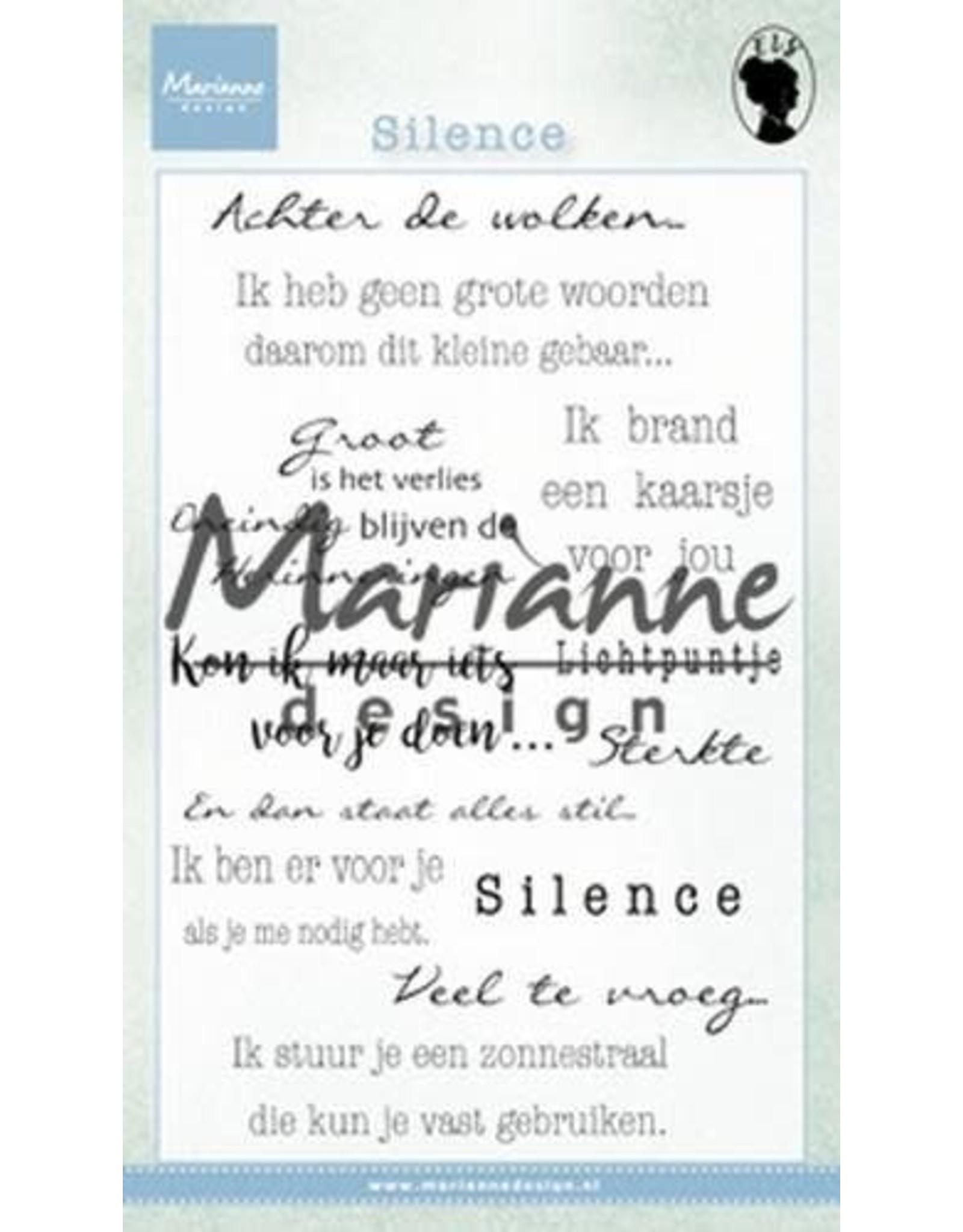 Marianne Design Marianne D Stempel Silence (NL)