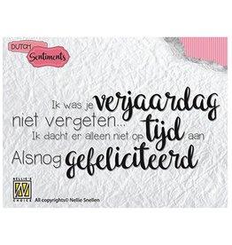 Nellie's Choice Nellies Choice Clearstempel Sentiments - Ik was je verjaardag...(NL)