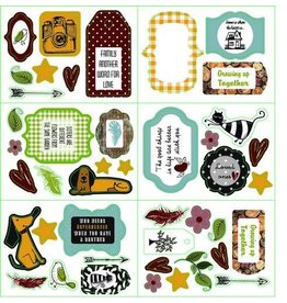 Pronty paper Pronty paper die cuts labels 6xA6 Fam. Stories
