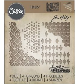 Sizzix Thinlits Sizzix Thinlits Die Set - Mixed Media 4PK