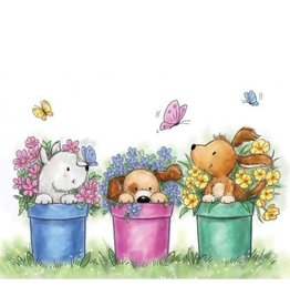Wild Rose Clear Stamps Wild Rose Studio's A7 stamp set Dogs in Pots