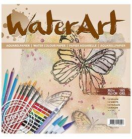 water art Water art Papier 12 sheets / 30.5 x 30.5cm / 185 grs