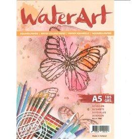 Water art Papier 30 sheets / A5 / 185 grs