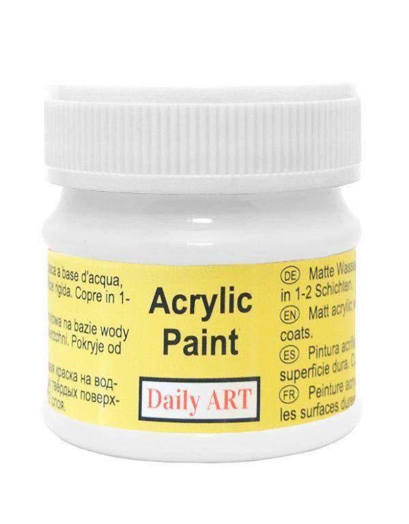 Daily Art acrylic paint jar 50 ml White