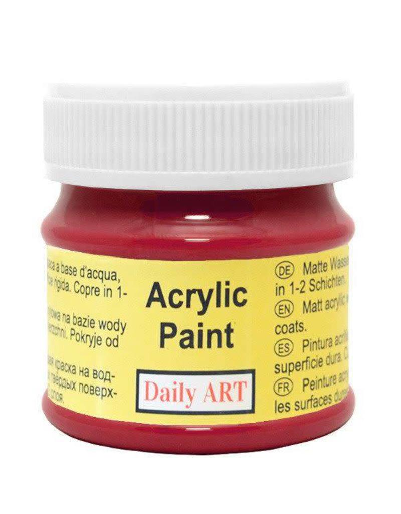 Daily Art acrylic paint jar 50 ml Dark Red