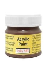 Daily Art acrylic paint jar 50 ml Dark Brown