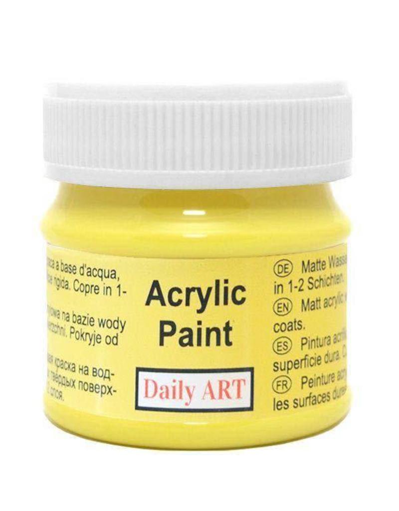 Daily Art acrylic paint jar 50 ml Lemon Yellow